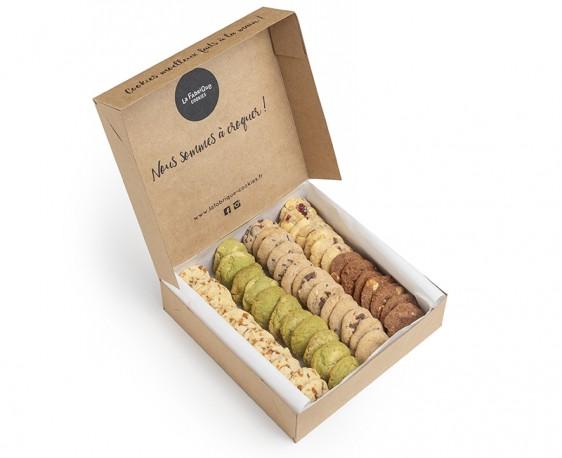 Box mensuelle - boite de 80 mini-cookies