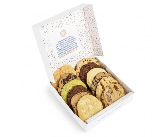 Box mensuelle - boite de 16 cookies