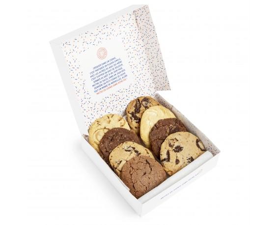 Boîte de 8 cookies 100% chocolat